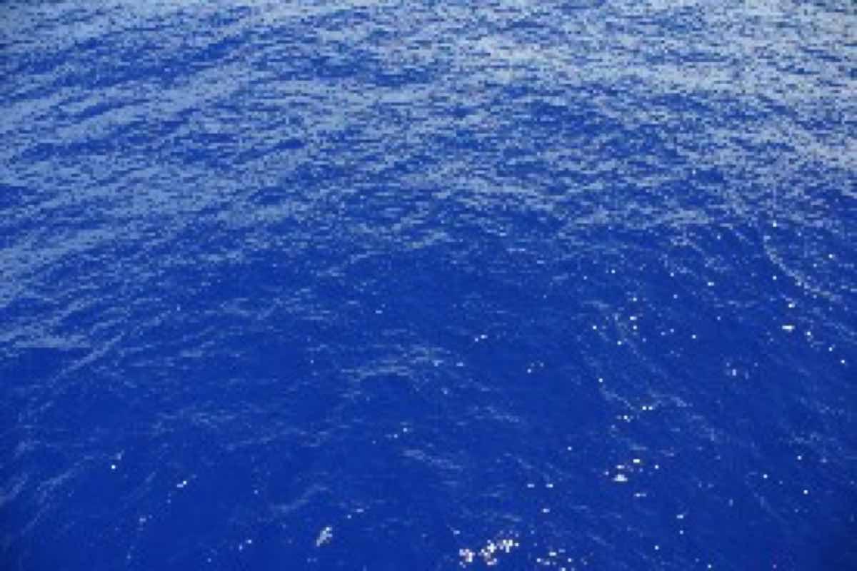 絶海の孤島の海